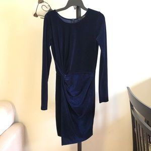 AQUA Royal Blue Suede Dress Size S